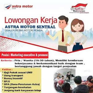 Lowongan Kerja Marketing Executive & Promosi di Astra Motor Sentral
