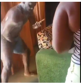 [VIDEO] Watch Funny moment Man Runs Out Of Bathroom Unclad, Tells Wife Not To Pick His Phone Call