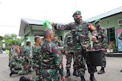 Periode 1 April 2021, 51 orang prajurit Kodim 0101/BS memperoleh kenaikan pangkat