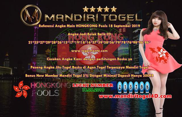Prediksi Lucky Number Togel Hongkong Mandiri Togel 18 September 2019