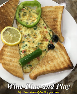 The vegetable omelet breakfast dish at the Ishtar Restaurant