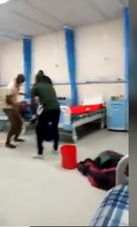 Some Covid-19 patients where seen having fun in an unknown isolation center playing drum and dancing