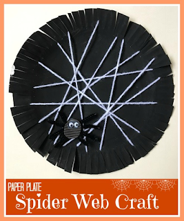 Halloween simple spider web craft