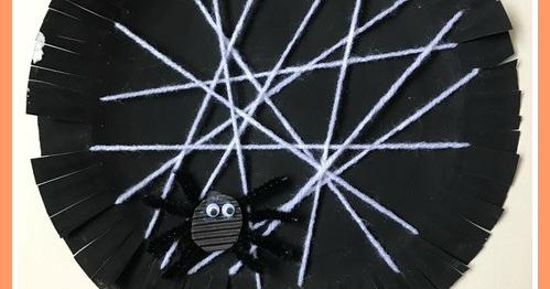Jenniferu0027s Little World blog - Parenting craft and travel Halloween craft - Paper plate spider web & Jenniferu0027s Little World blog - Parenting craft and travel ...