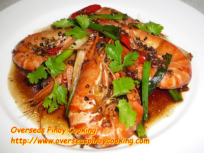 Black Peppered Prawns Pinoy Style