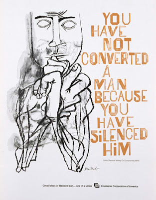 you have not converted a man because you have silenced him