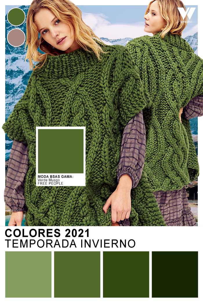 Paleta de color verde Colores 2021 paleta de colores tonos verdes moda invierno