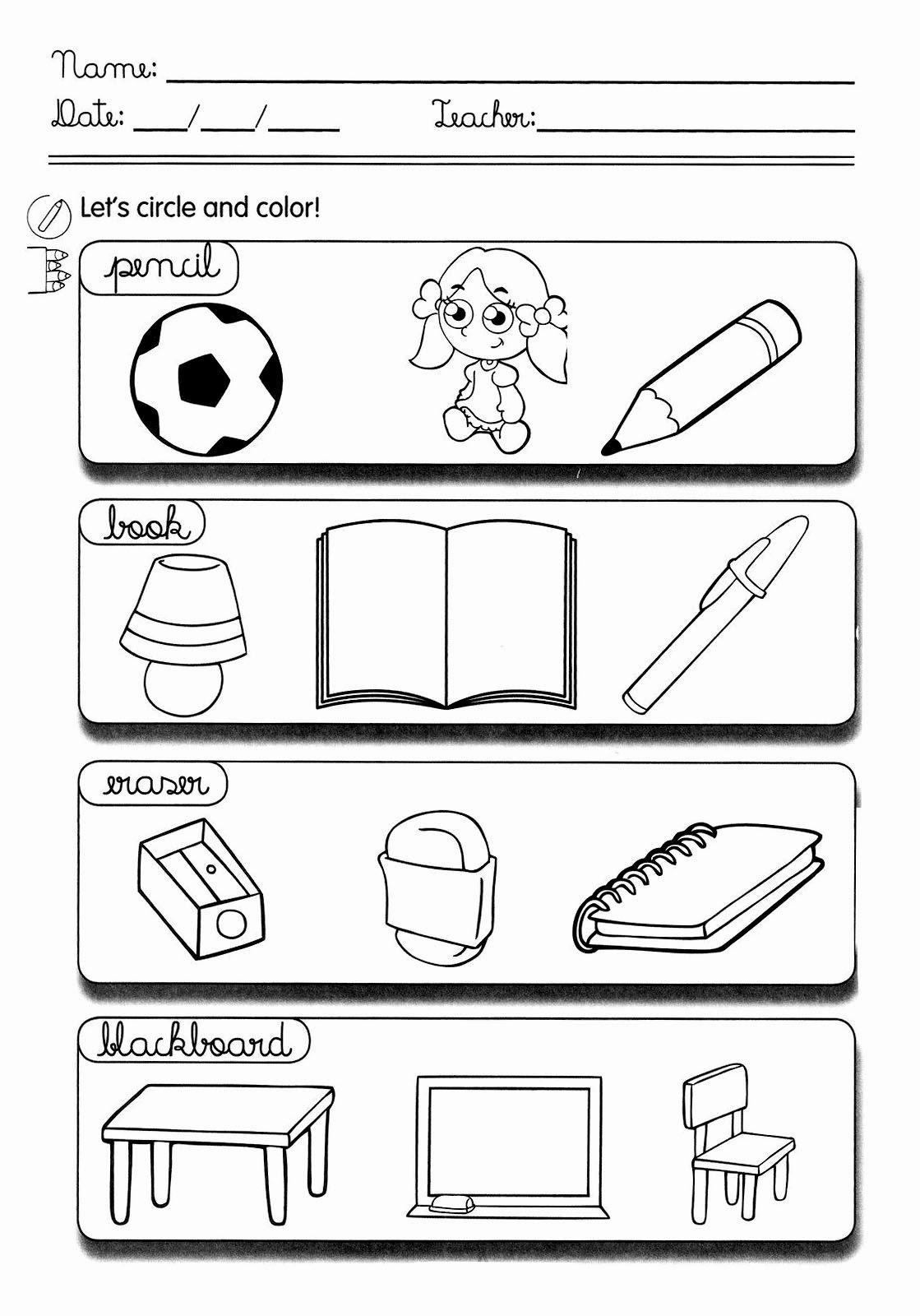 Atividades De Ingles 1 Ao 6 Ano Exercicios Imagens Para Imprimir Iii