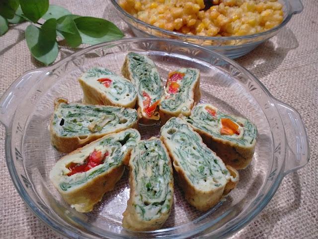 resep telur dadar sayur, tamagoyaki sayur