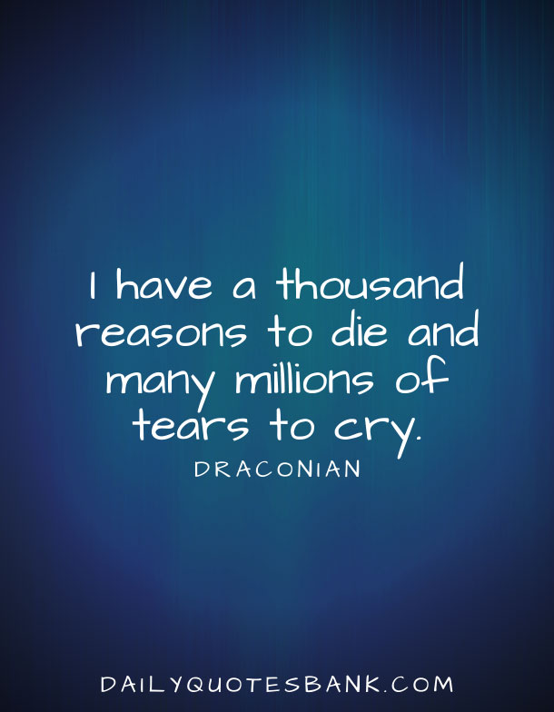Deep Sad Quotes About Life That Make You Cry