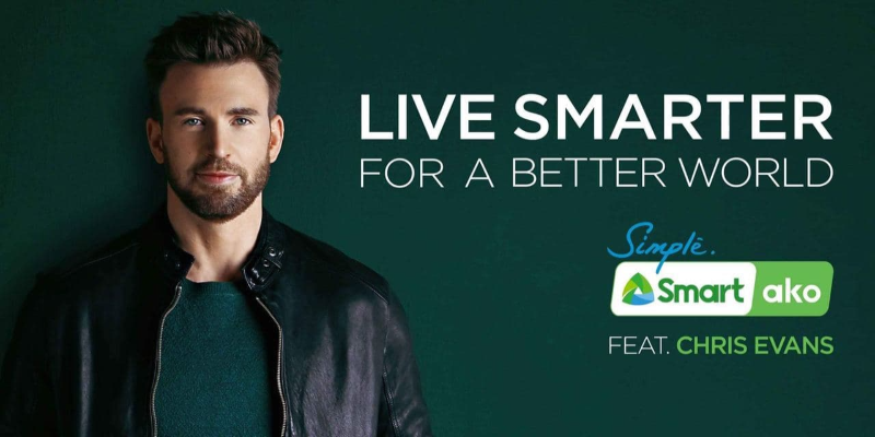 Chris Evans is newest face of Smart Communications