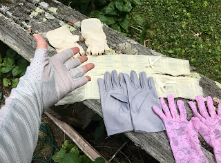 A collection of solar gloves