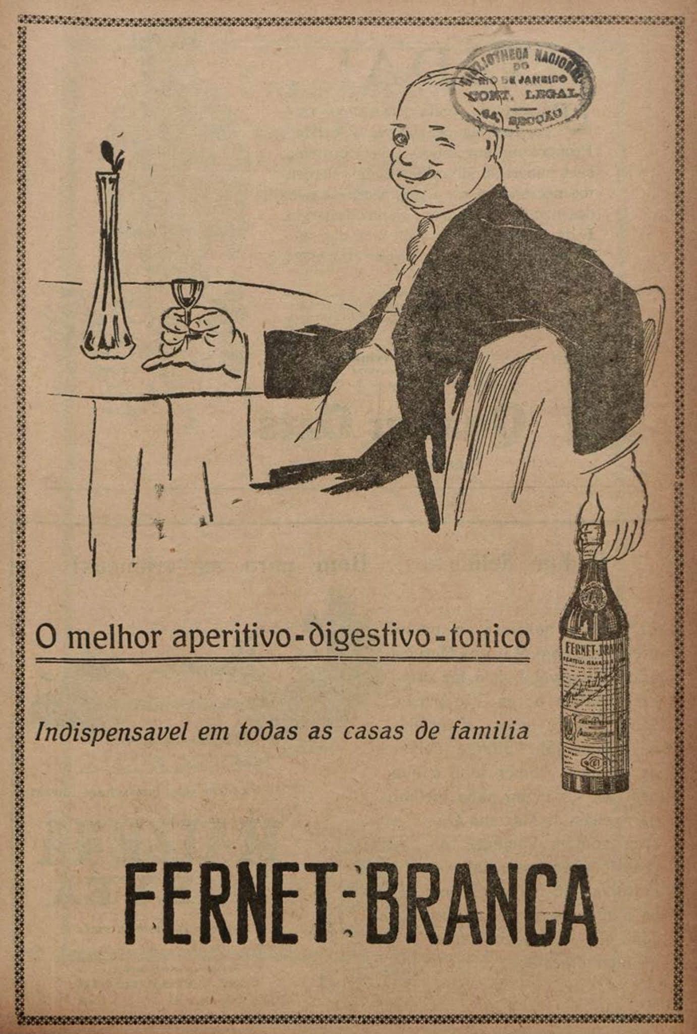 Anúncio de 1926 de um tônico digestivo veiculado na Revista A Cigarra