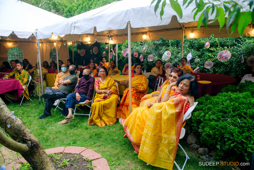 Pandal Decoration Indian Bengali Wedding Photography Bangla Gaye Holud Ceremony by SudeepStudio.com Michigan Ann Arbor South Asian Indian Wedding Photographer