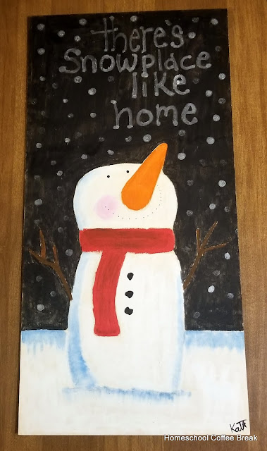 Snowplace Like Home on the Virtual Refrigerator  - share your art posts on our Virtual Refrigerator - an art link-up hosted by Homeschool Coffee Break @ kympossibleblog.blogspot.com