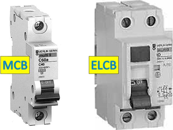 difference of mcb and elcb