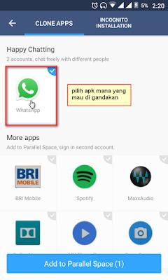 menggandakan whatsapp 2
