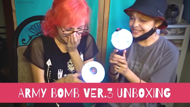 BTS, Kpop, Unboxing, ARMY BOMB, Ver 3, Lightstick ARMY, Merchandise, Mercancía, Bangtan, K-pop