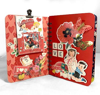 KB and Friends' Retro Valentine's Day Mini Album Inside Cover