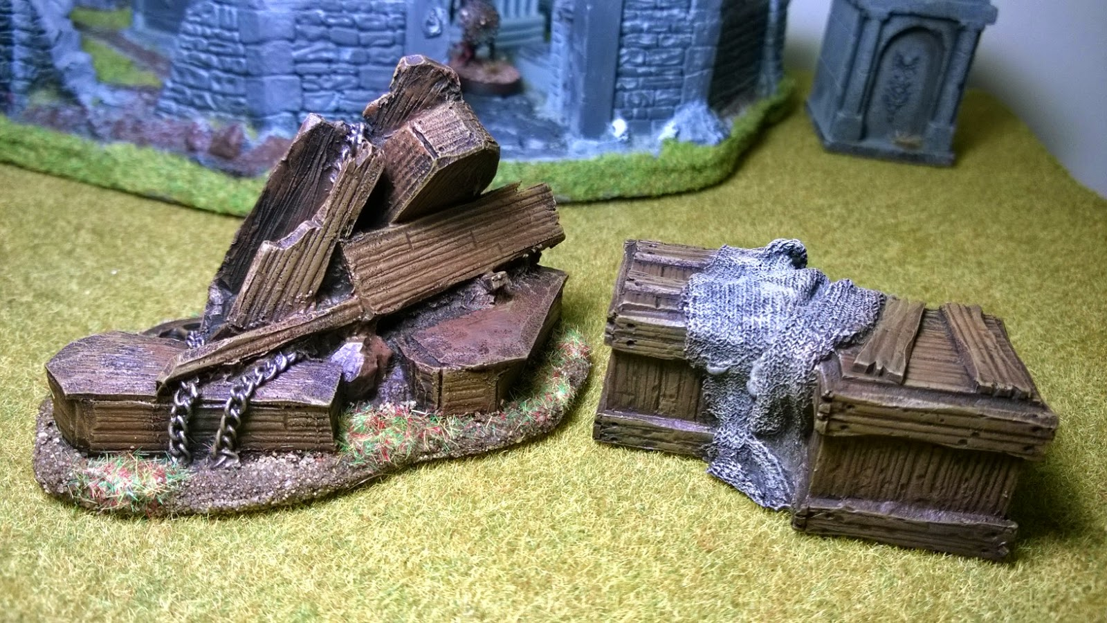 Malifaux undertakers props graveyard terrain scenery gothic horror