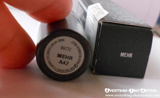 MAC+Mehr+Lipstick+Swatch+Review+FOTD