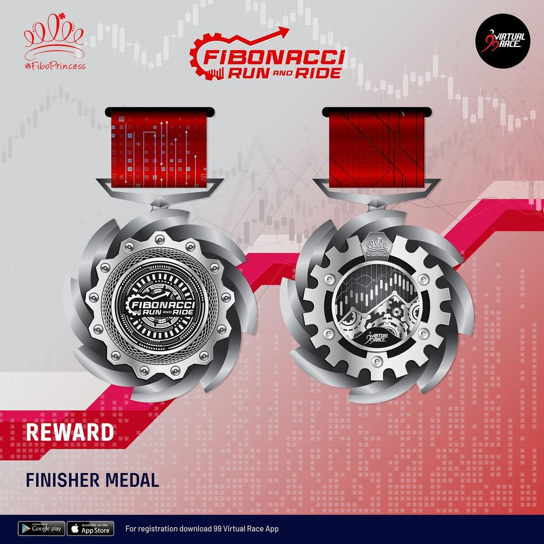Medal � Fibonacci Virtual Run and Ride • 2021