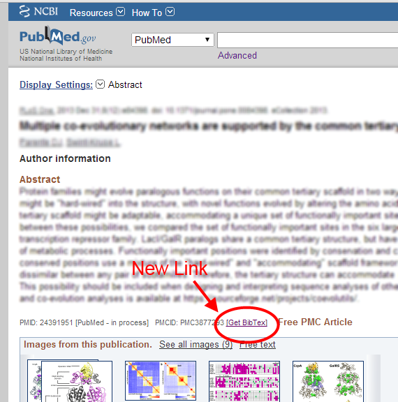 BioPhysEngr Blog: PubMed BibTex QuickLink: A GreaseMonkey