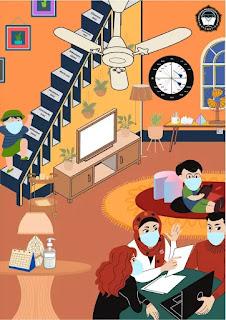 Poster Suasana belajar kelompok matematika