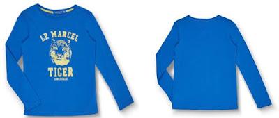 camiseta azul para nino