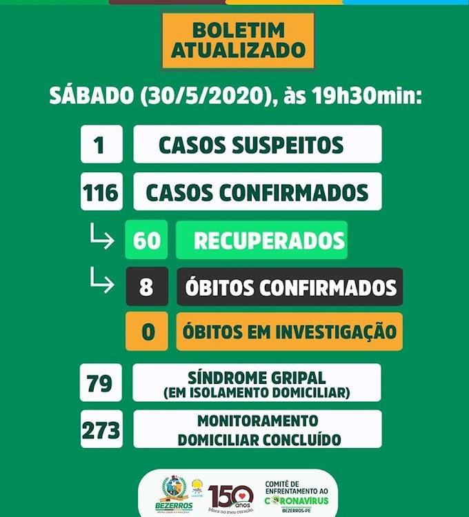 Bezerros confirmou  novos casos de coronavírus