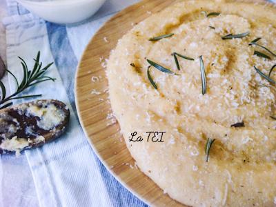 Polenta ticinese con parmigiano reggiano e rosmarino