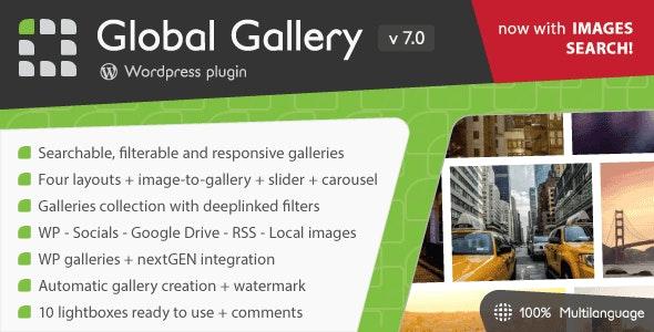 Download Global Gallery v7.011 - Wordpress Responsive Gallery