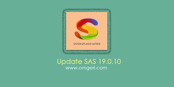 Update Aplikasi SAS 19.0.10