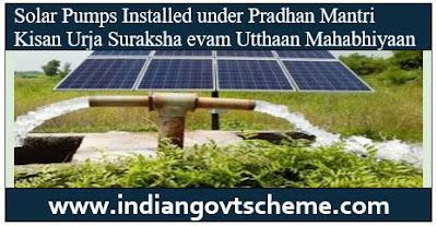 Solar Pumps Installed
