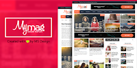 My Mag Responsive Magazine - Responsive Magazine Blogger Template free.