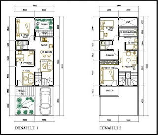 Denah Rumah Dua Lantai Kreasi Rumah
