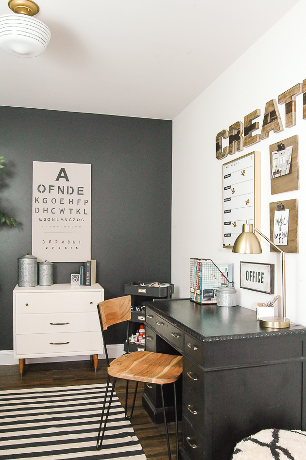 modern industrial farmhouse office reveal