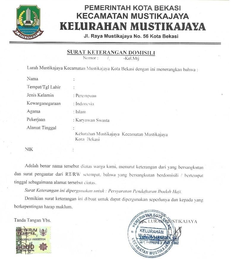 Contoh Surat Permohonan Pendamping Haji Lansia Kumpulan Surat Penting