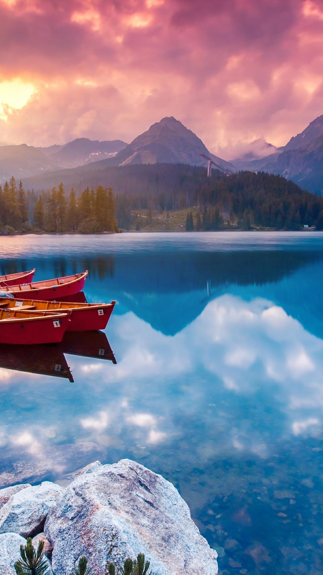 Sunrise Nature Lake Mountain Scenery 4k Wallpaper 149