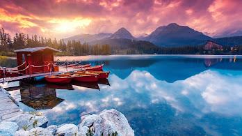 Sunrise, Nature, Lake, Mountain, Scenery, 4K, #149