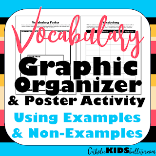 Vocabulary Graphic Organizer Using Examples & Non-Examples