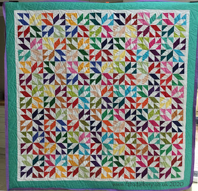 Margie's colourful quilt