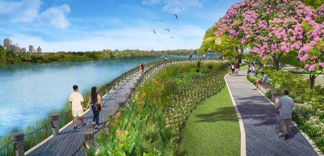 Công viên xanh dự án Thanh Hà Cienco 5 Hà Đông