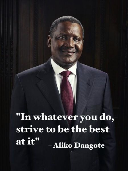 Aliko Dangote's Rank in the world