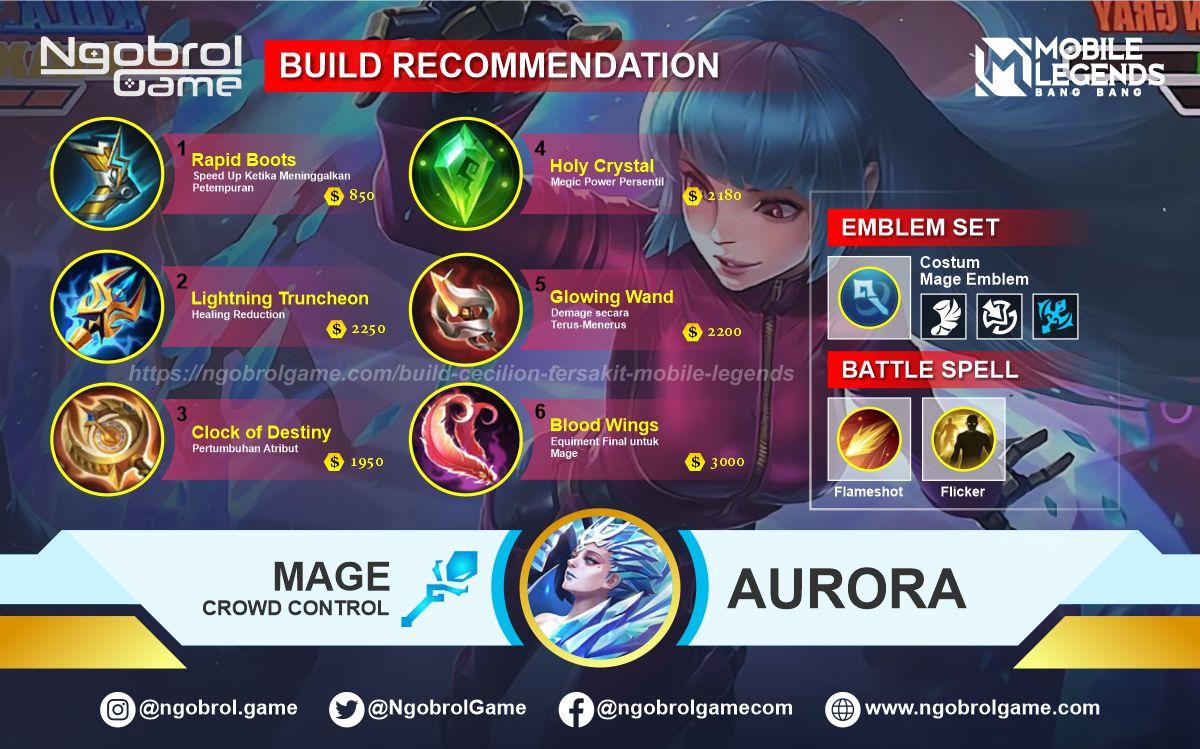 Build Aurora Top Global Tersakit Mobile Legends