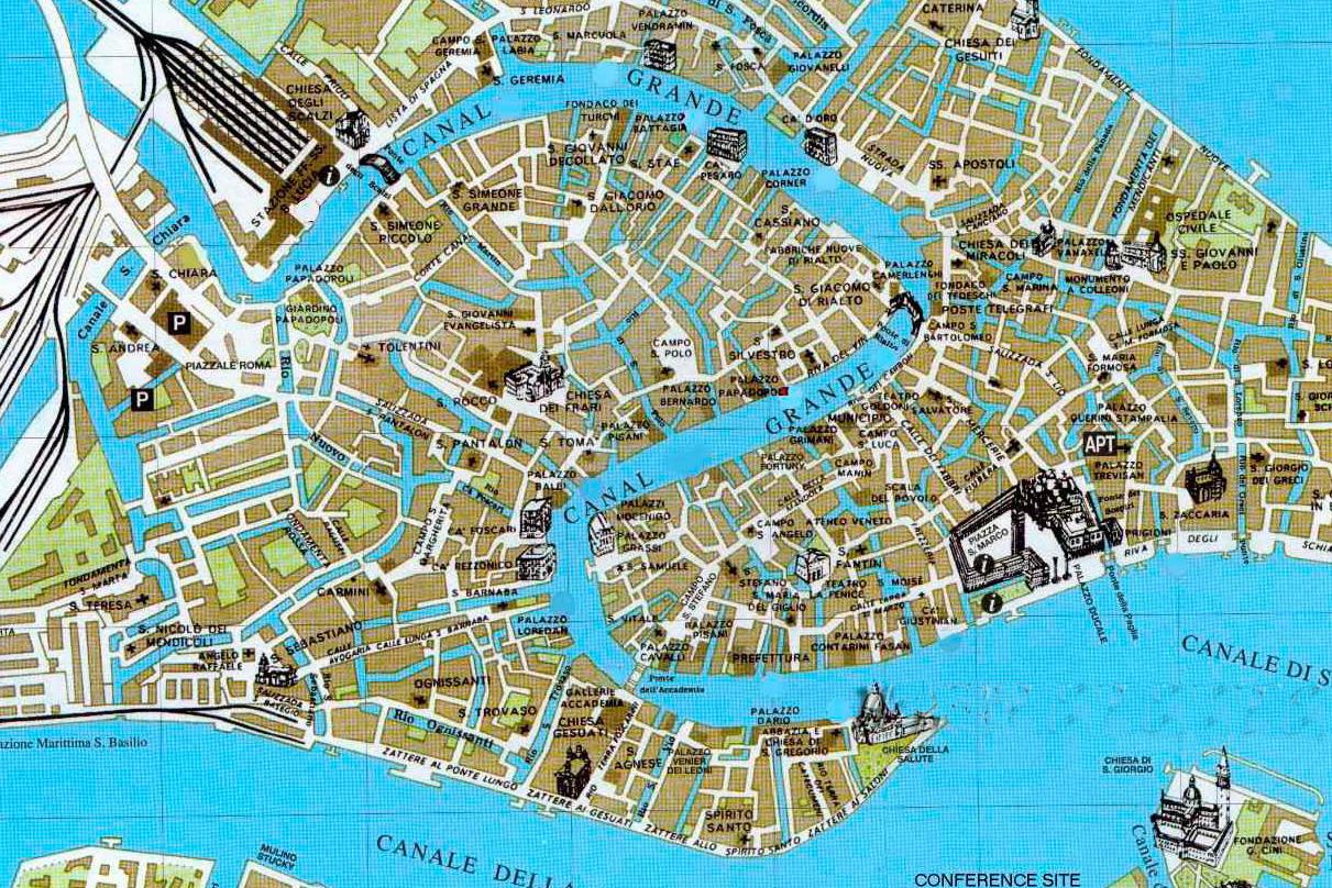 Карта Венеции в Италии
