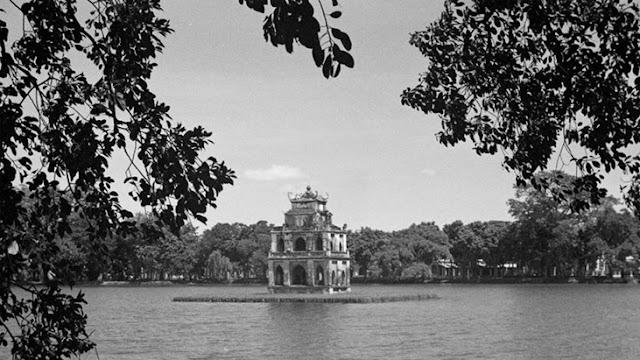 tháp rùa hồ hoàn kiếm ngày xưa