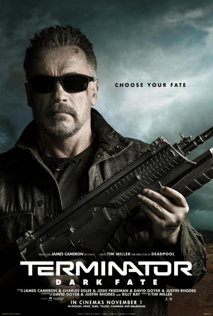 Terminator : Dark Fate New Posters Featuring Arnold Schwarzenegger
