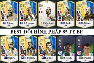 """Xây dựng đội hình """"Tuyển Pháp huyền thoại"""" 85 tỷ khủng hoàn hảo nhất FIFA ONLINE 4"""