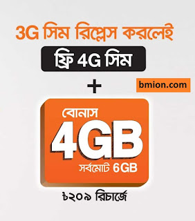 Banglalink Free 4G SIM Upgrade on Pack Purchase - Get 6GB Data 30Days! Check Your 4G SIM or Collect From Customer Care!